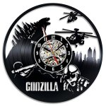 Godzilla Vinyl Record Gift Wall Clock Art Decor Vintage
