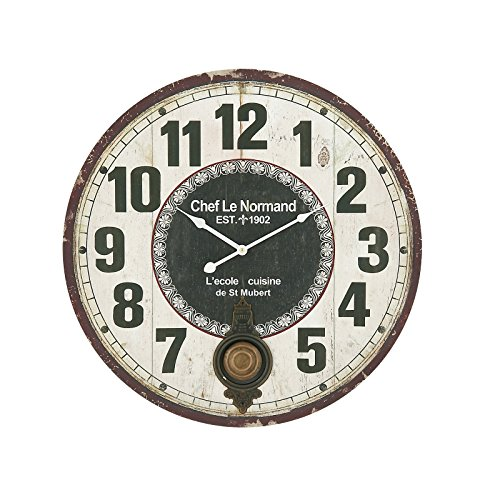 NEW Stunning Wood Metal Round 23-inch Wall Clock