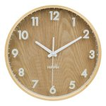 Hippih 12″ Silent Wall Clock Wood Non Ticking Digital Quiet Sweep Home Decor Vintage Wooden Clocks(number)