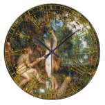 Weathered Garden of Eden Large Clock