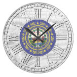 Weathered New Hampshire Your Color Wash Large Clock