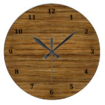 The Look of Driftwood Oak Wood Grain Texture Large Clock
