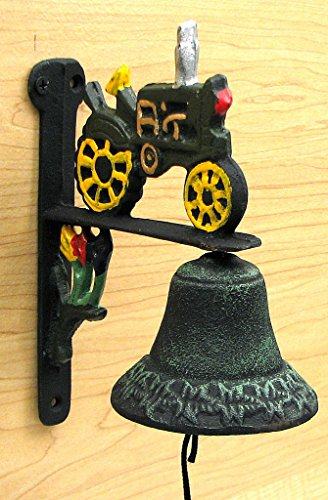 Americanoutfitter Cast Iron Tractor Bell – Unique Gift For Birthday Christmas Wedding Anniversary Engagement Graduation Couples Men Women Mom Dad Grandpa Sister Wife Husband Friends