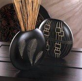 Wooden Feather Imprint Vase