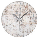 rustic country white cork large clock