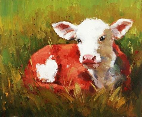 The Perfect Effect Canvas Of Oil Painting 'Pig In Red Clothes On Grass' ,size: 18×22 Inch / 46×55 Cm ,this Imitations Art DecorativePrints On Canvas Is Fit For Living Room Decoration And Home Gallery Art And Gifts