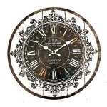 Wall Clock Tracery Vintage Rustic Shabby Art Clock Chic Home Office Cafe Decoration^.