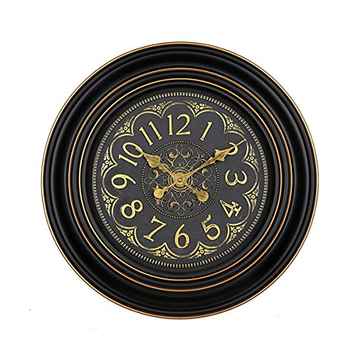 Foxtop 20 Inch Large Round Vintage Antique Wall Clock Decorative for Living Room Office