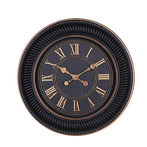 Foxtop 20 Inch Large Vintage-Inspired Wall Clock with Roman Numerals Display Retro Antique Style Round Home Office Decor