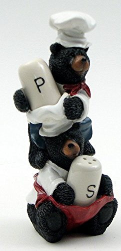 VoojoStore Bear Chef Salt and Pepper Set – Unique Gift For Birthday Christmas Wedding Anniversary Engagement Graduation Couples Men Women Mom Dad Grandpa Sister Wife Husband Friends