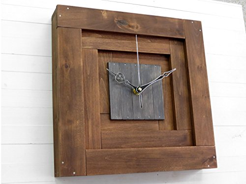 Praf XII, pyramid wall wooden clock, 3D wall clock, silent movement, wall decor, square, minimal, cubic clock, office, living room, bedroom