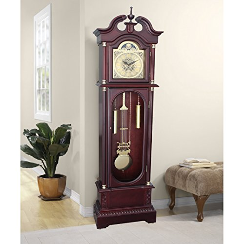 Grandfather Clock Floor Standing 72″ Tall Daniel Dakota Cherry Wood Finish