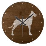 Great Dane Silhouette Large Clock