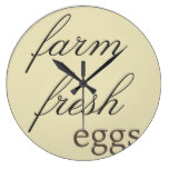 Rustic Wall Clock – Farm Fresh Eggs