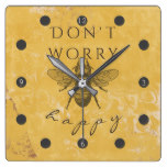 Bee Happy Vintage Clock