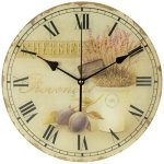 Olives and Herbs 12″ Wide Round Wall Clock