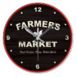 Farmers Market Rustic Kitchen Clock