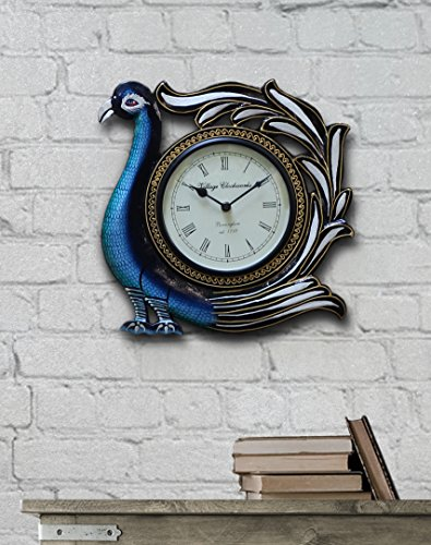 Mothers Day Gift Traditional Peacock-Shaped Decorative Wall Clock with a Numeral Clock Face12 Inch