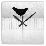 American Game Hen Square Wall Clock