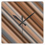 Blurry Rustic Inspired Stripes Pattern Wall Clock