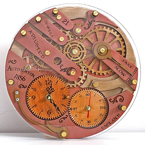 Chronomaton 1856 unique vintage wooden wall clock, personalized, housewarming, One-of-a-kind, victorian, gift