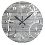 Rustic Nautical Life is Better on the Beach Large Clock