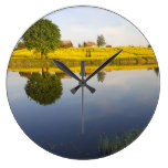 Rapeseed field large clock