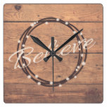 Believe Square Wall Clock
