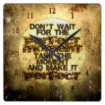 STRICTLY TYPOGRAPHY 3 SQUARE WALL CLOCK