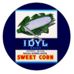 1930s Idyl Sweet Corn label Large Clock
