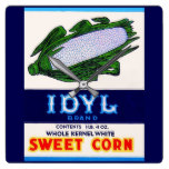 1930s Idyl Sweet Corn label Square Wall Clock