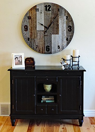 "36 inch ""Papa Bear"" Reclaimed Wood Large Rustic Wall Clock"