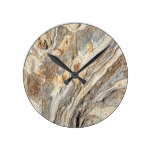 Cool Marble Texture Pattern Round Clock