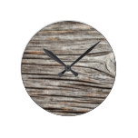Natural Love Valentines Round Clock