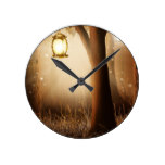 Fairytale Fairy Tale Forest Tree and Lamp Round Clock