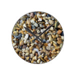 Stones Pebbles Texture Abstract Pattern Round Clock