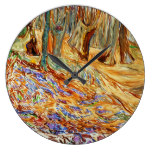 Edvard Munch – Elm Forest in Spring Large Clock