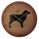 Boykin Silhouette Rustic Style Large Clock