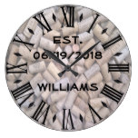 Personalized Wine Corks Large Clock