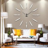 Unarticulate Wall Clock Clocks – Diy Modern Wall Clock Wall Sticker Home Decoration – Inarticulate Rampart Tongueless Muffle Surround Tone Down Wordless Palisade Silent Fence Time – 1PCs