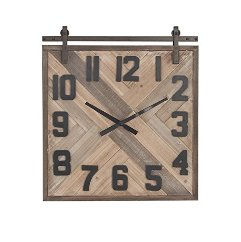 Deco 79 44463 Wall Clock, Beige/Blue