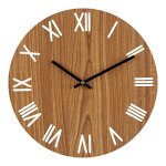 Ryuan 12 inch Wall Clock, Quartz Silent Non ticking Decorative wooden Battery Operated Analog, Vintage Rustic Country Tuscan Style for Living Room, Kitchen, Home, Office (Roman Numeral)