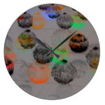Digital art with round brush strokes. large clock