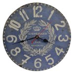 Old Oak 14-Inch Decorative Wall Clock Vintage Rustic Silent Non-Ticking Battery Operated for Living Room Kitchen Bathroom Bedroom Wall Decor with Large Arabic Numerals