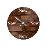 Mindfulness Clock with Wood Background