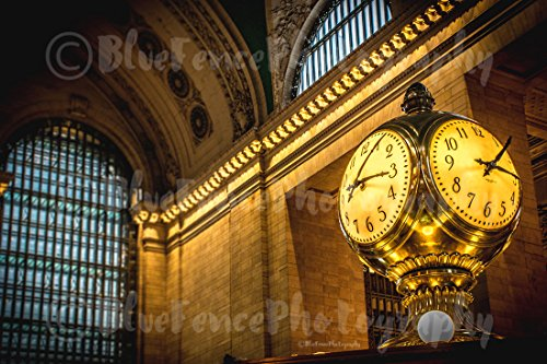 The Clock at Grand Central Station, NY, New York City, Art Print, Home, Wall Decor, Manhatthan, Living Room, Dining Room. Sizes Available from 5×7 to 20×30.