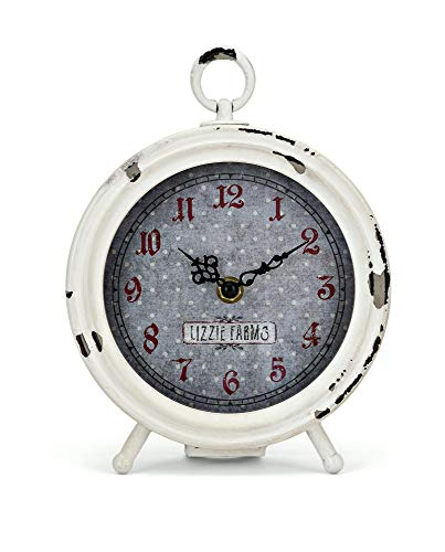 Trisha Yearwood Home Collection 60242 Berry Patch Desk Clock, White