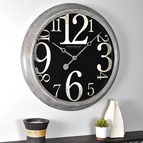 FirsTime 50006 Tilt Wall Clock, Weathered Tan