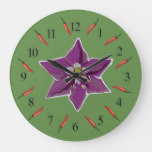 Chili  Peppers, Peppers  Blossom  Wall Clock