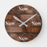 Mindfulness Clock with Faux Wood Background
